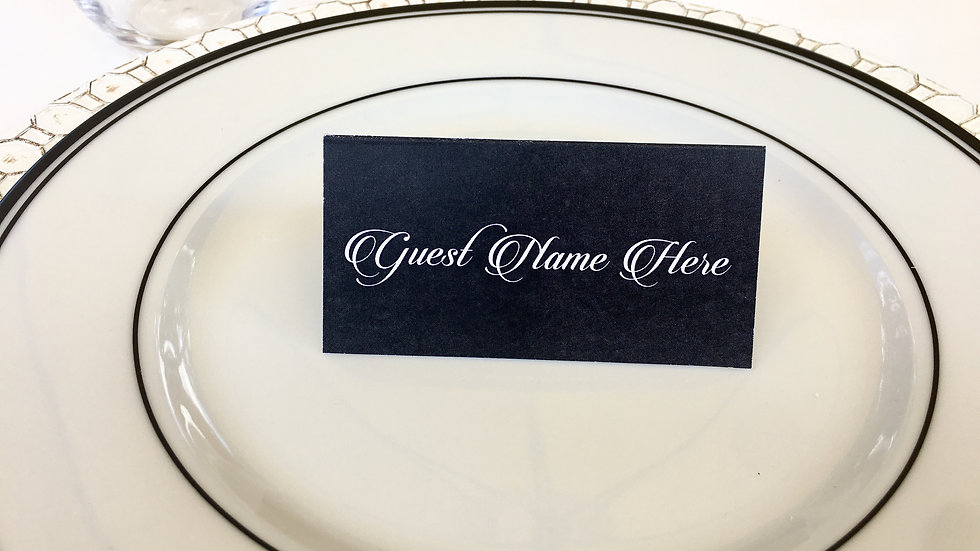 Chalkboard Style Place Cards