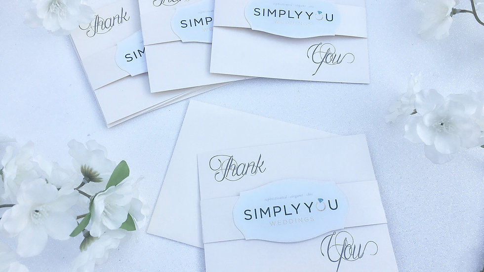 Business Thank You Cards - (Simply You Weddings Pictured)