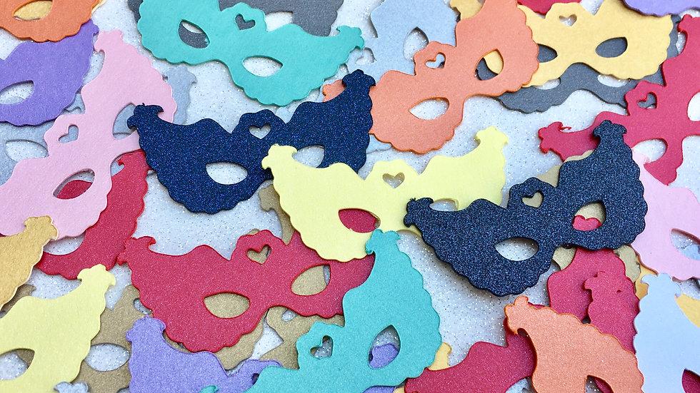200 Metallic Mini Mask Die Cuts - Business Card Size
