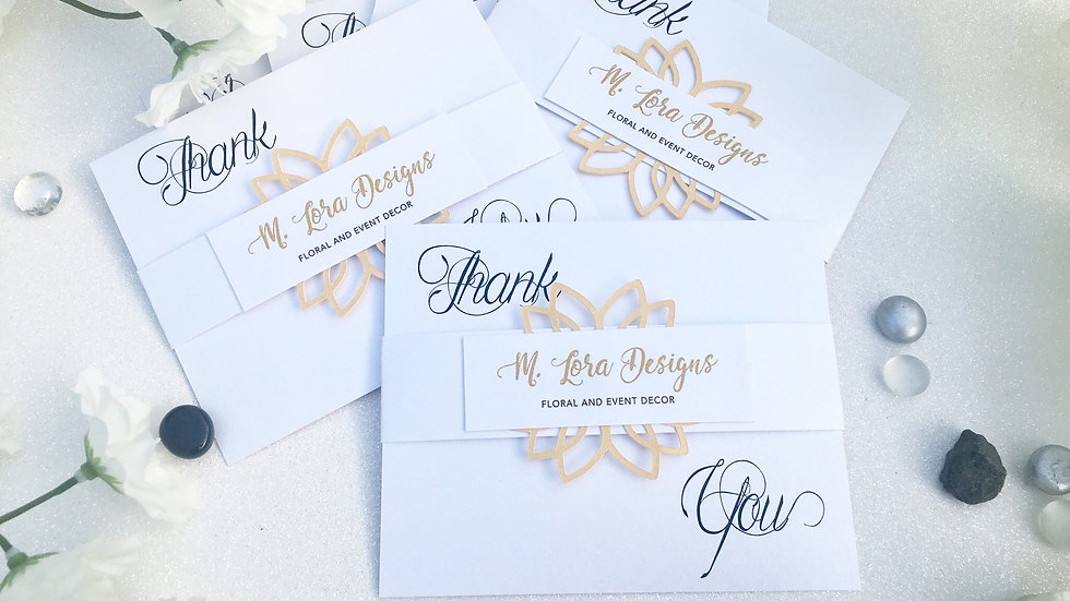 Business Thank You Cards ~  (M Lora Designs Pictured)