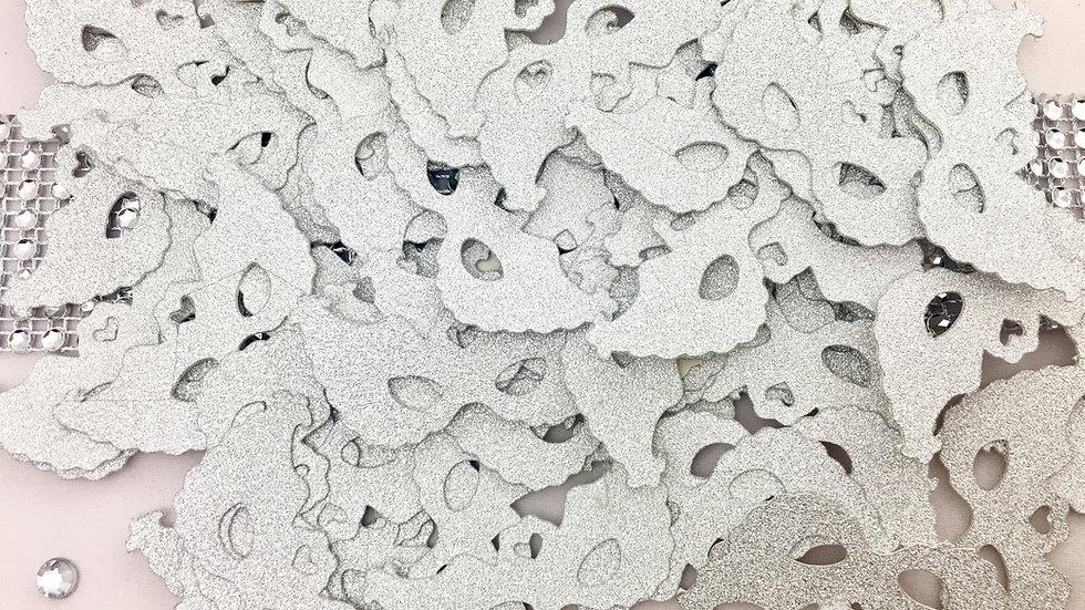Silver Glitter Mini Masks Cut Outs - 100 per package
