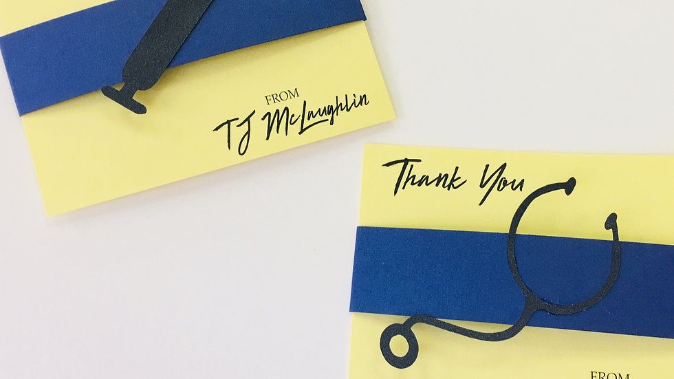 Medical Field Inspired Business Thank You Cards