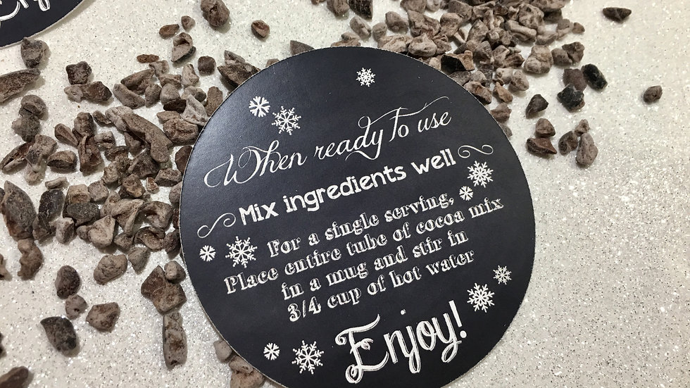 Chalkboard Hot Cocoa In a Tube Tags or Sticker Labels