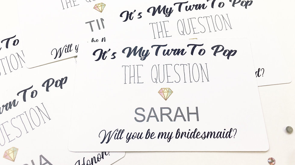Will You Be My.... Personalized Cards