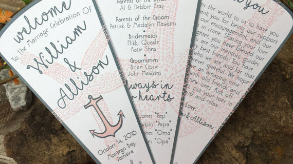 You're My Anchor Fan Programs • 3 Petals without Ribbon Detail