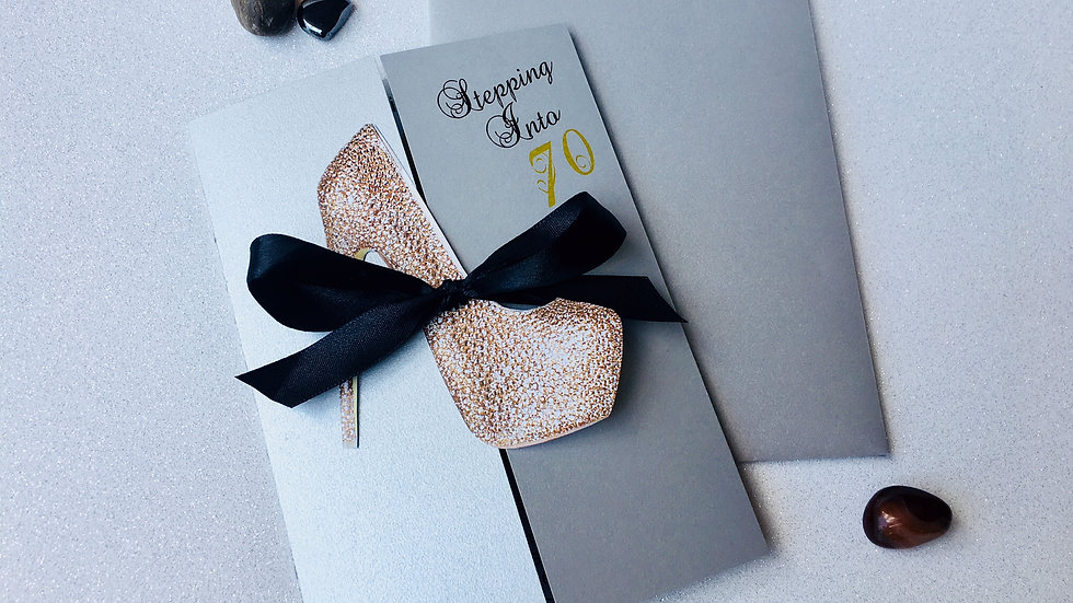 High Heel Birthday Invitations