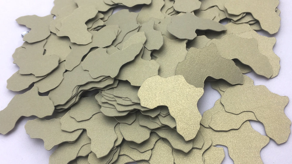 Africa Shaped Confetti, Africa Cut Outs