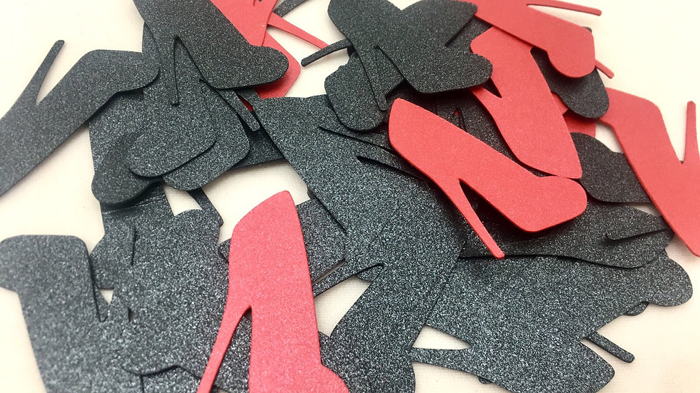 High Heel Confetti, 100 High Heel Cut Outs