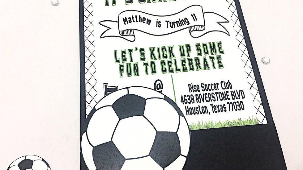 It's a Soccer Party! Pocket Style Invitations