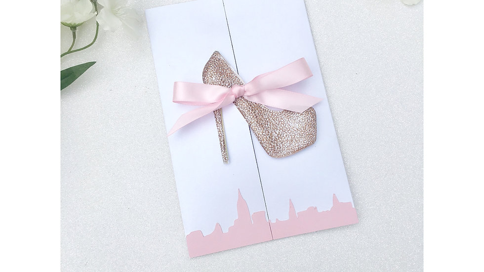 Bride and the City Invitations with Heels