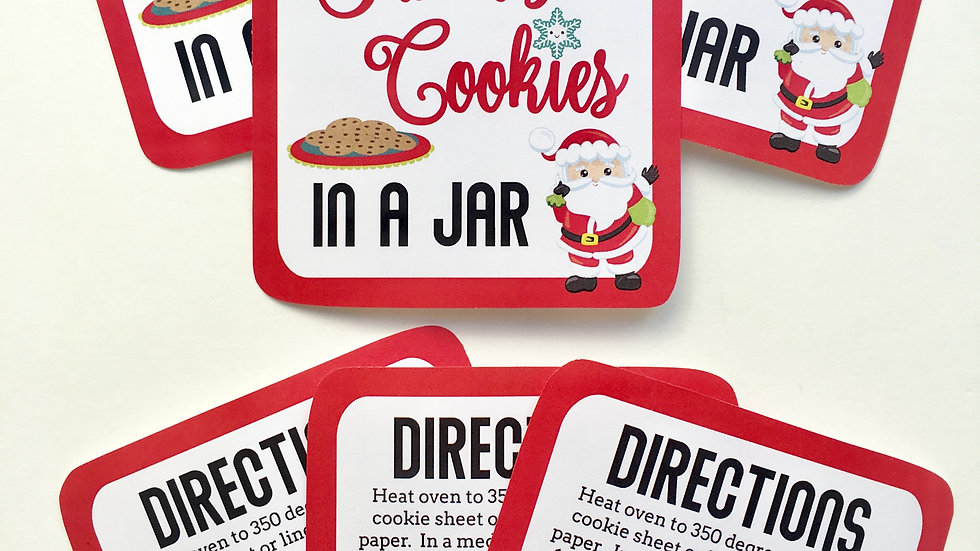 Cookies In A Jar - Santa's Cookies