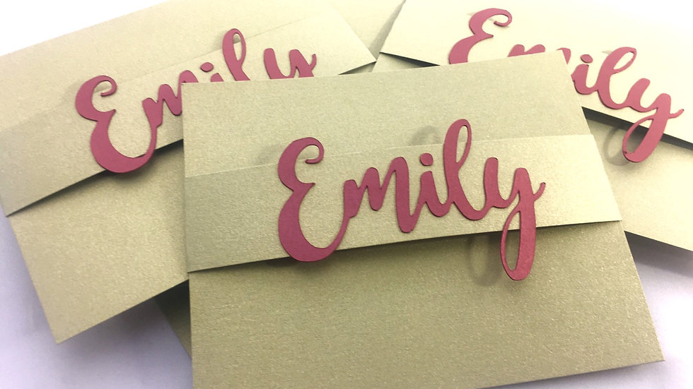 Stationery Cards with Personalized Name
