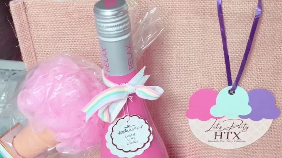 Ice Cream Party Tags With Ribbons - Customize your own!