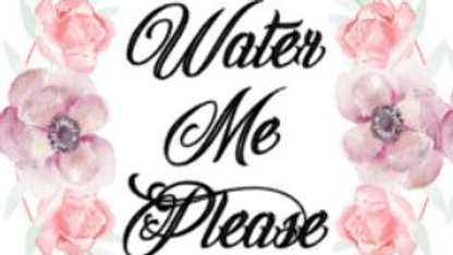 "4"" Circle Water Me Please Tags"