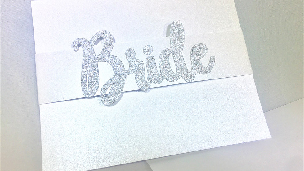 BRIDE Glitter Stationery Cards