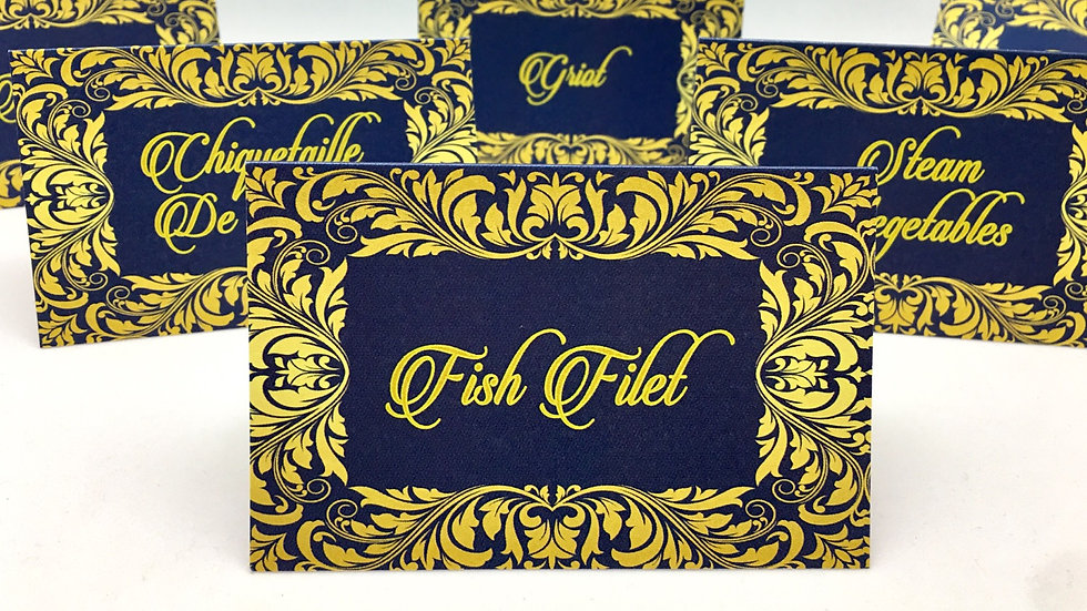 Tent Style Food Cards