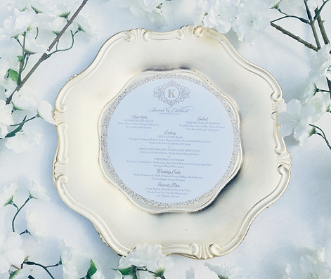 Gold Glitter Faux menu Circles