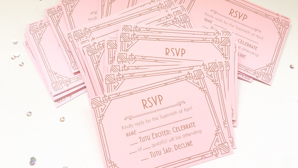 RSVP Cards - Art Deco Style