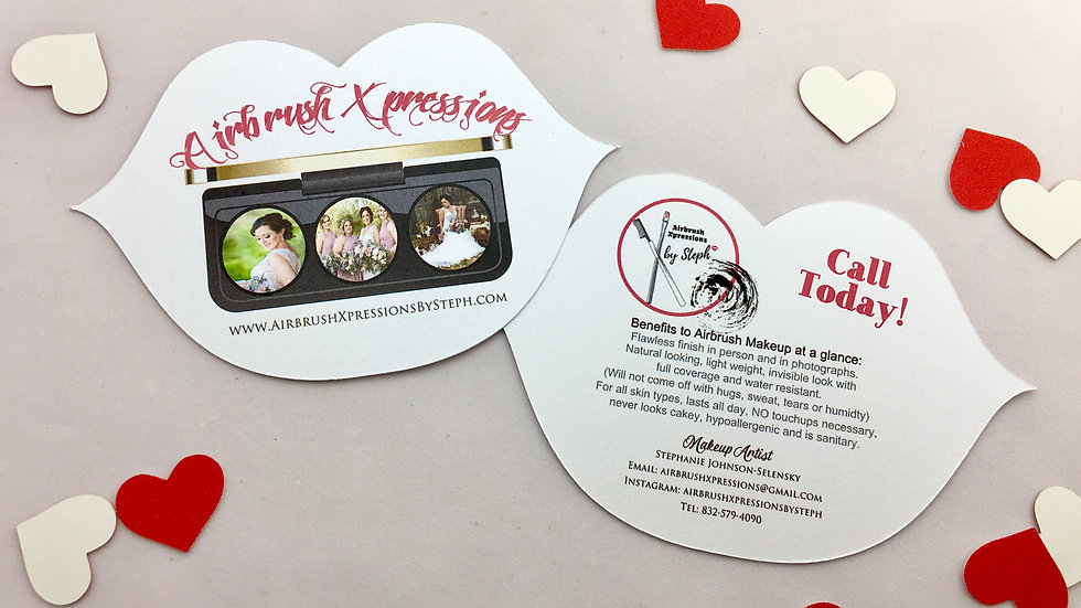Lip Shaped Business Cards, Lip Shaped Flyers