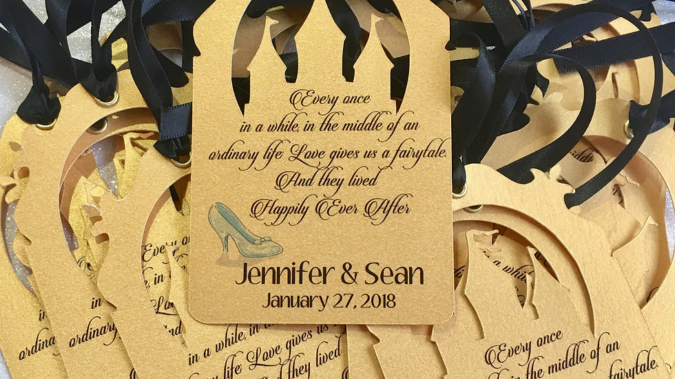 Customized Castle Tags With Ribbons