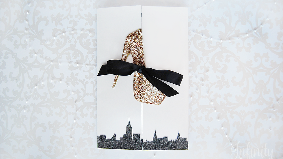 Sex and The City Inspired Invitations with High Heel