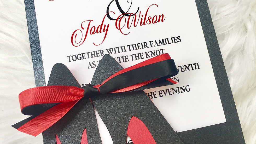 Red Bottom High Heel Invitations ~ Includes Envelopes