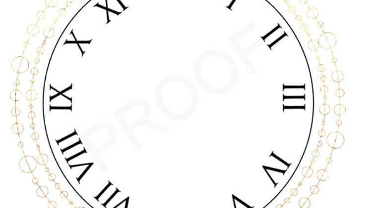 Art Deco Printable Clock Face - Instant Download