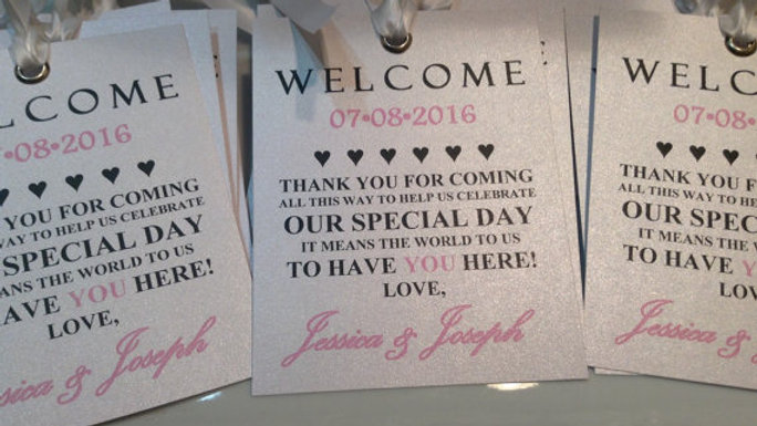Welcome Bag Tags • Set of 4