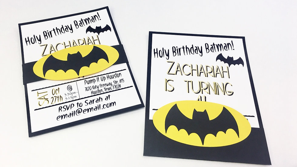Batman Invitations - Holy Birthday Batman Invitations