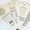 Thumbnail: Elaborate Elegance Collection Fan Programs, 4 Petals with Ribbon