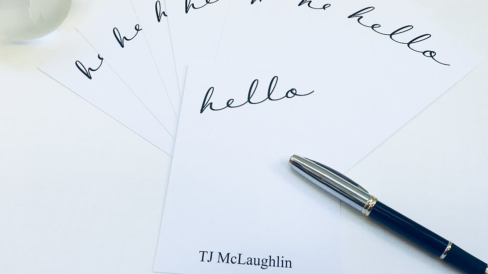 Hello! Personalized Stationery Cards