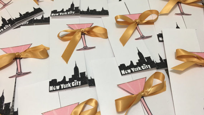 Sex and The City Inspired Invitations with Martini Glass