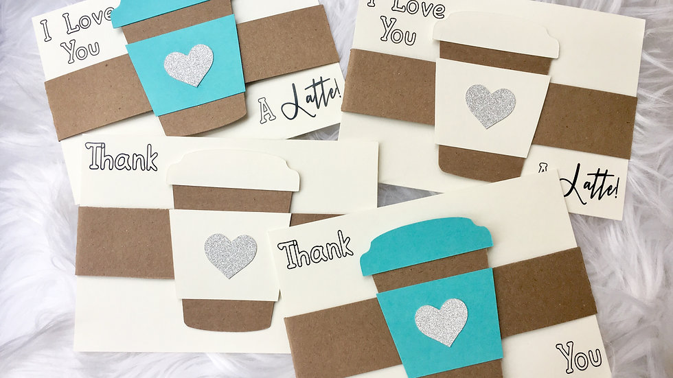 Coffee Cup Thank You Card Cuties