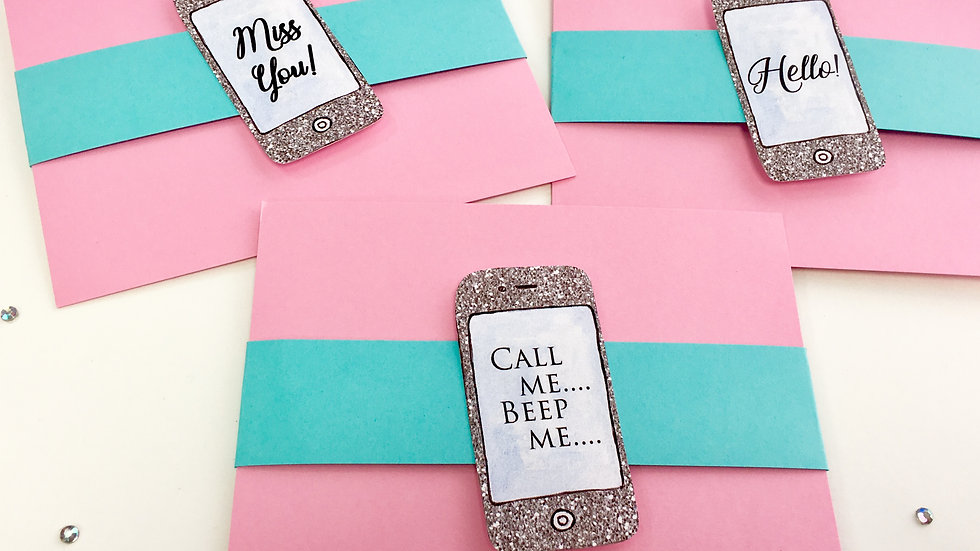 Cell Phone Note Cards