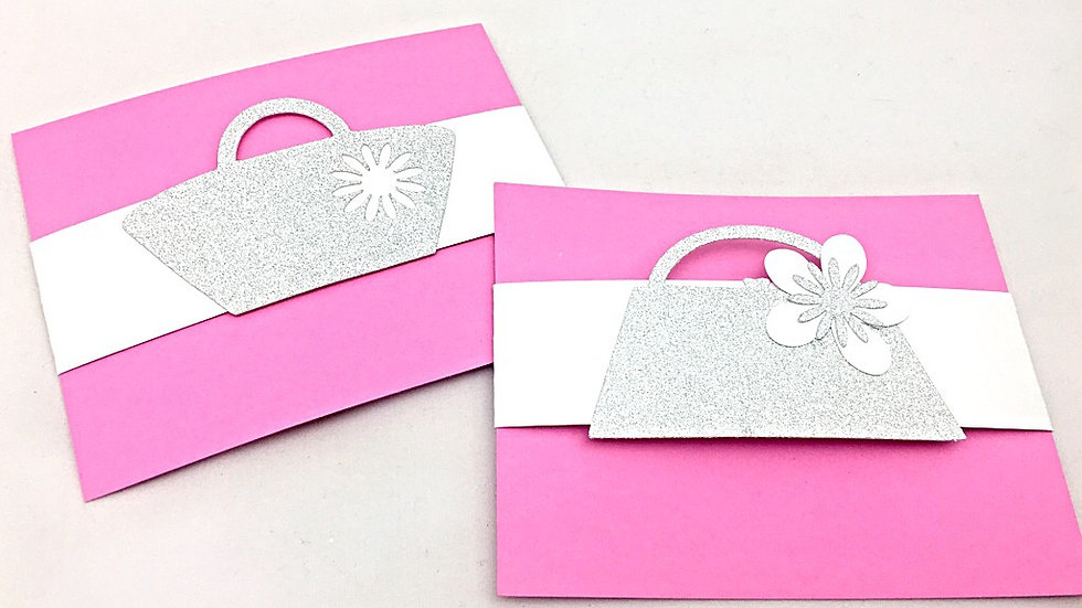 Glitter Handbags and Purses Note Cards