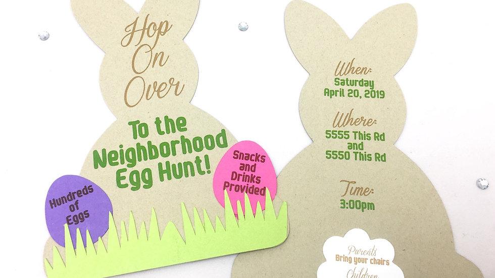 Bunny My Bunny Invitations