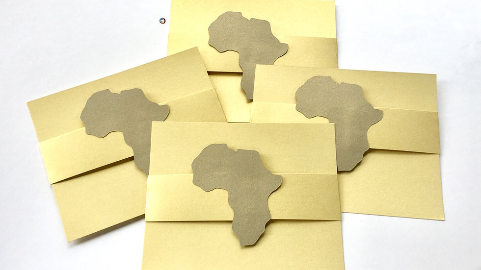 Africa Shape Note Cards