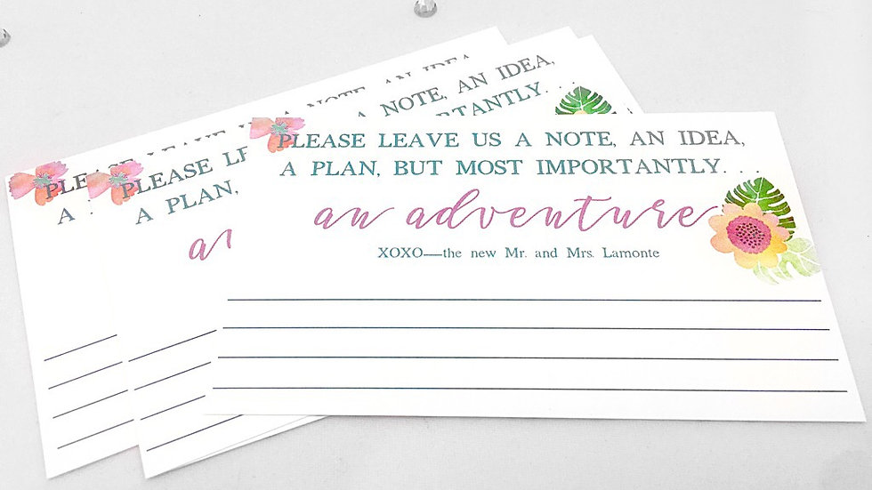 Personalized Advice Cards for Bride and Groom
