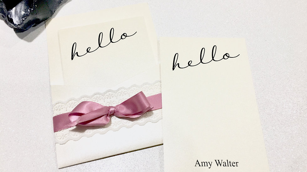 Hello! Personalized Cards with Lacey Pocket Holder