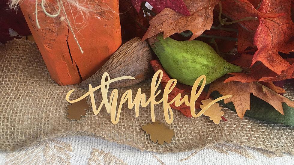 """Thankful"" Die Cuts"