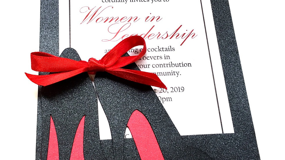 Red Bottom High Heel Invitations, High Heel Invitations