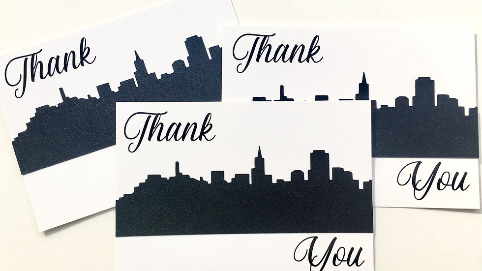 Skyline Thank You Cards