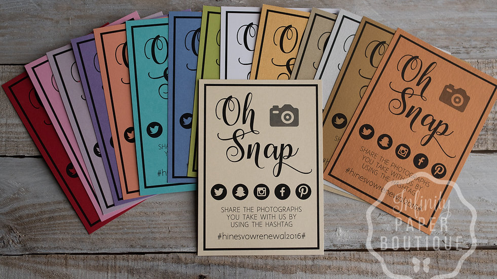 Oh Snap Cards - Instant Download