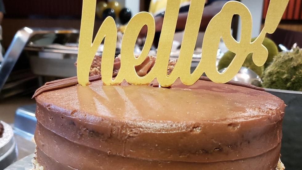 HELLO! Cake Topper