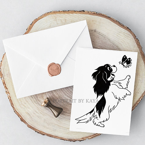Set of 5 Folded Greeting Cards / Best Wishes Cards