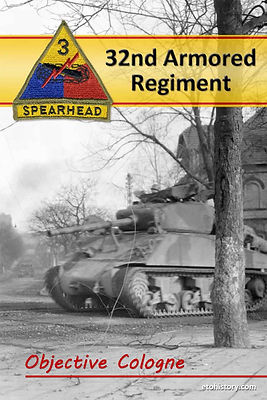 32nd Armored Regiment tanks move into Quadrath, Germany, on March 2, 1945.