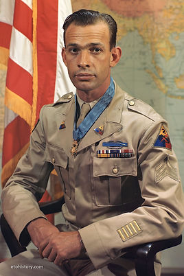 Sgt. Hulon B. Whittington, Company I, 41st Armored Infantry Regiment, 2nd Armored Division. Medal of Honor.