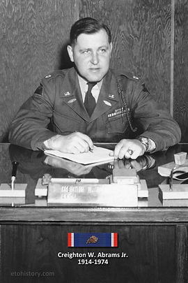 Lt. Col. Creighton W. Abrams, commanding officer, 37th Tank Battalion, 4th Armored Division.