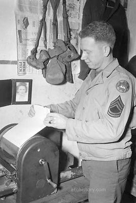 Mimeograph Machine, VII Corps Headquarters, Germany.