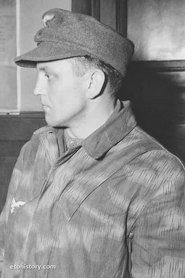 December 17, 1944: This Fallschirmjäger, at an MP headquarters in Kornelimünster, Germany, became a prisoner of war during Operation Stösser.